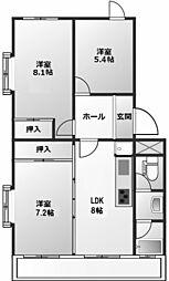 木津山ハウス[1階]の間取り