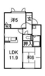 メイプルハウスABCD[1階]の間取り