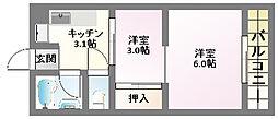 藤井マンション[1階]の間取り