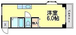 兵庫県尼崎市潮江1丁目の賃貸アパートの間取り