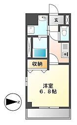 メゾンドリスブラン[4階]の間取り