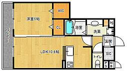 滋賀県栗東市岡出口の賃貸アパートの間取り