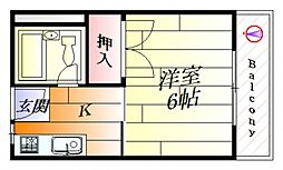 アムール摂津[3階]の間取り