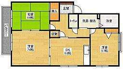 パークメゾン砂田B棟[2階]の間取り