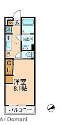 千葉県松戸市西馬橋1丁目の賃貸アパートの間取り