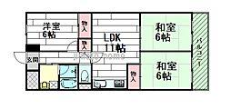 桃山台グリーンマンション[5階]の間取り