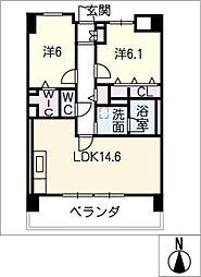 LA CANG[5階]の間取り