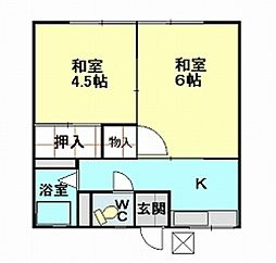 宮坂ハイツ[203号室]の間取り