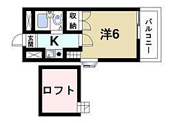 シティパレス富雄元町PartII[2階]の間取り