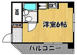 兵庫県明石市和坂の賃貸マンションの間取り