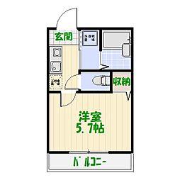 レジデンス・カメアリ[0102号室]の間取り
