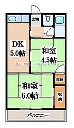 菊地マンション[2階]の間取り