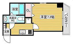 Luxe十三東 7階1Kの間取り