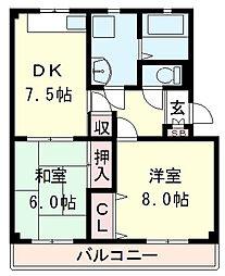 滋賀県近江八幡市中小森町の賃貸マンションの間取り
