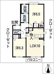 マノワール[2階]の間取り