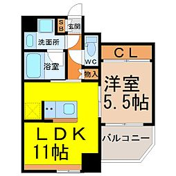 Comfort大曽根(コンフォート大曽根)[8階]の間取り