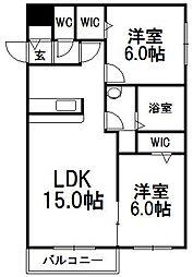 Comfort Fit[4階]の間取り