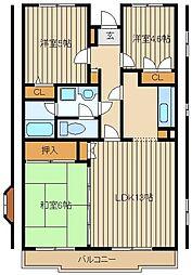 サンモールパレス[2階]の間取り