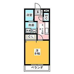 TATSUMI GARDEN[2階]の間取り
