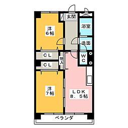 IDAKADAI BLG[3階]の間取り
