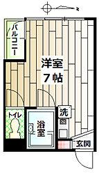 プレステージ島村[2階]の間取り