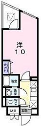 京急本線 金沢八景駅 徒歩3分の賃貸アパート 5階1Kの間取り