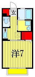 第一八洲荘NEO[1階]の間取り