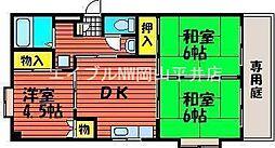岡山県岡山市中区藤崎丁目なしの賃貸アパートの間取り
