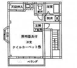 河井コーポ[2階]の間取り