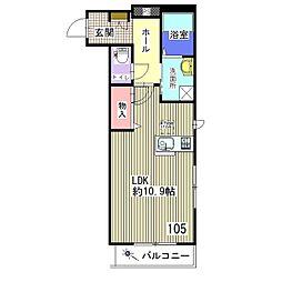 シャーメゾン新宿[105号室]の間取り