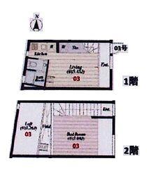 東京都杉並区阿佐谷北2丁目の賃貸アパートの間取り