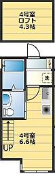 (仮称)西戸部町新築アパート[1階]の間取り