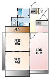 アフロス甲子園[3階]の間取り