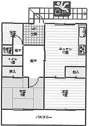 静岡県裾野市稲荷の賃貸アパートの間取り