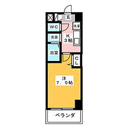 愛知県名古屋市中川区大畑町2の賃貸マンションの間取り