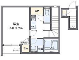 JR阪和線 久米田駅 徒歩8分の賃貸アパート 2階1Kの間取り