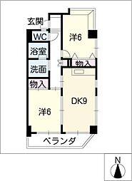 パラッツオ・ダンケ[7階]の間取り