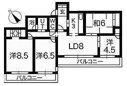 クリオ鎌倉笛田 5階4LDKの間取り