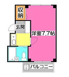 ルフティーニ所沢[4階]の間取り