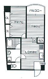 リトルハウス中央[4階]の間取り