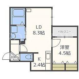 GRASIAS N14[2階]の間取り