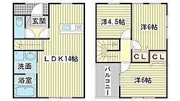 [テラスハウス] 兵庫県姫路市米屋町 の賃貸【/】の間取り