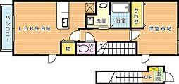 ライフサニー浅川 A[2階]の間取り