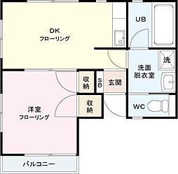 F渋谷[201号室]の間取り
