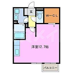 三重県伊賀市四十九町の賃貸アパートの間取り
