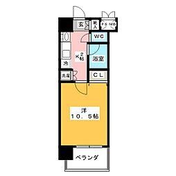 鶴舞パークヒルズ[4階]の間取り