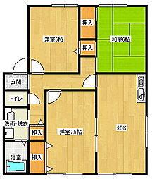 ピーノハイツ[2階]の間取り
