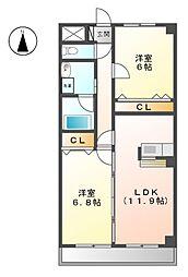 プリミエ−ルNYOI[2階]の間取り