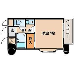 兵庫県神戸市西区伊川谷町潤和の賃貸マンションの間取り