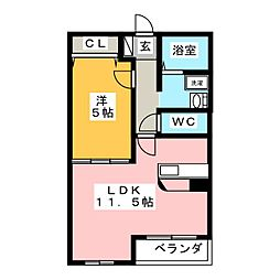 メゾン・パラディ[2階]の間取り